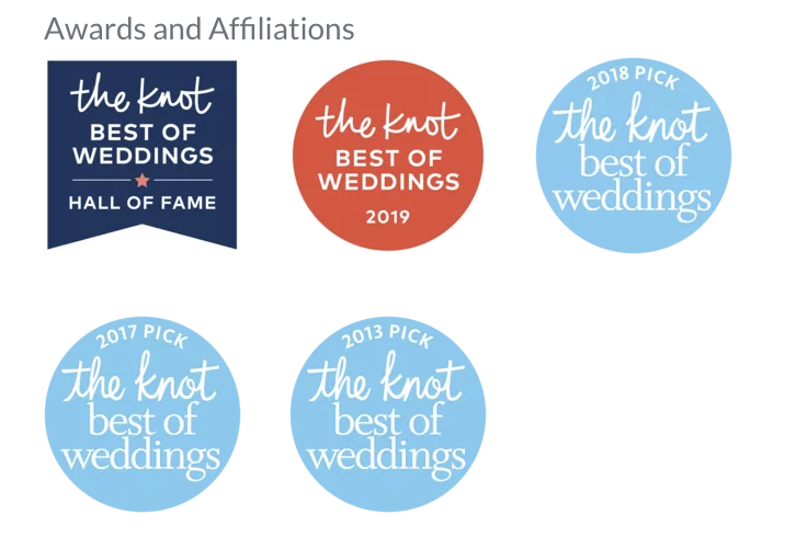 "Vows From The Heart (aka Elope To San Diego) has been inducted into The Knot's ""Best Of Weddings Hall Of Fame"""
